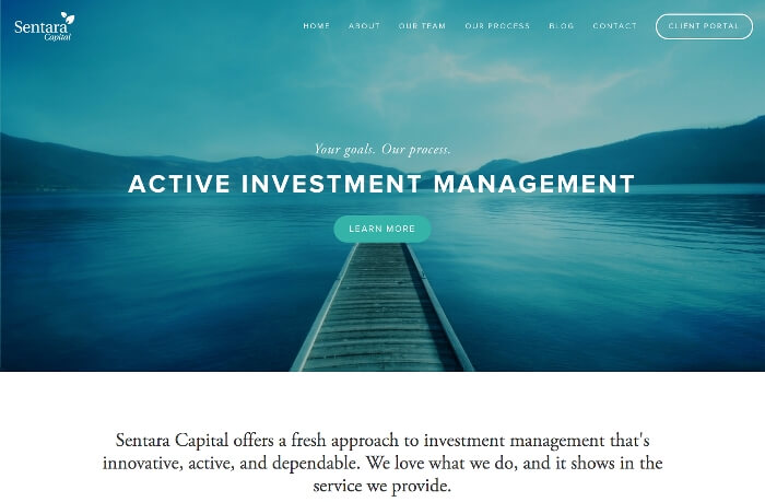 Sentara Capital Website